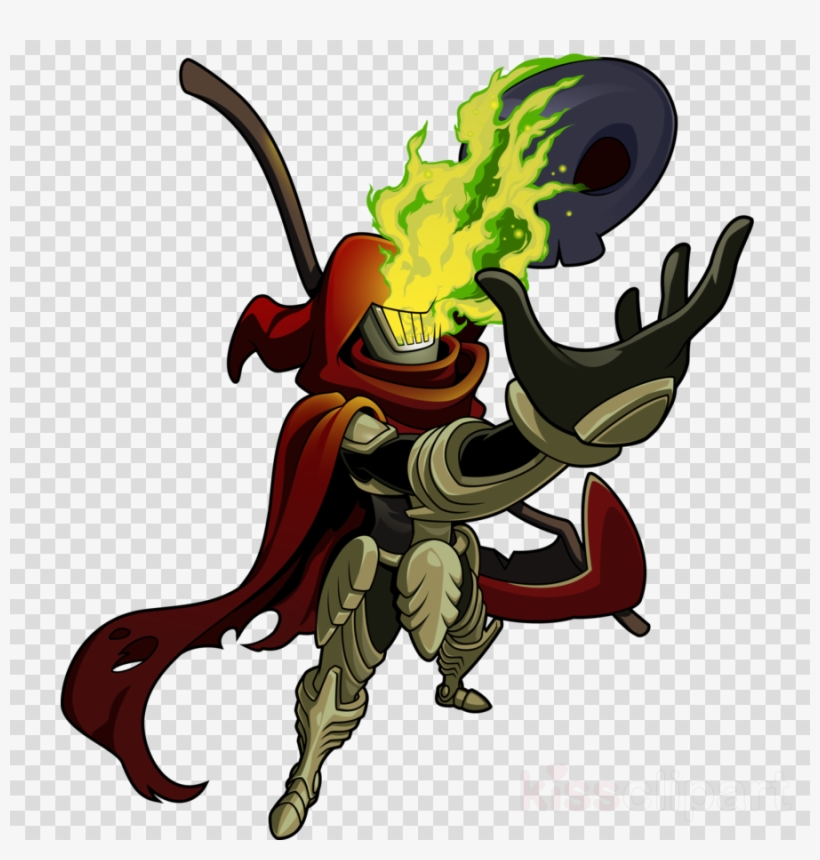 Specter Knight Clipart Shovel Knight PNG Image.