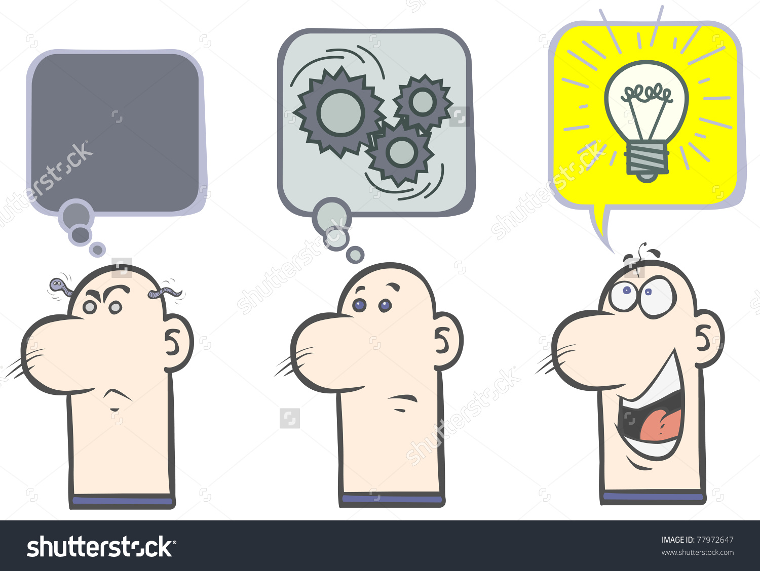Speculate Man Having Good Idea Stock Vector 77972647.