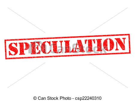 Clipart of SPECULATION red Rubber Stamp over a white background.