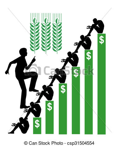 Stock Illustrations of Speculation in Wheat.