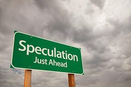 Speculation Green Road Sign.