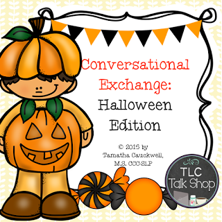 Halloween: Speech Therapy and Social Story with Low Tech AAC.