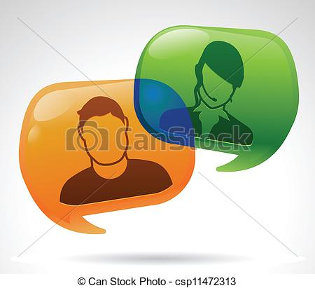 Vector Clip Art of Customer Service.