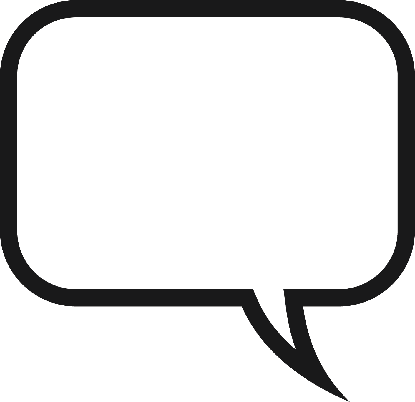 Free Speech Bubble Clipart Black And White, Download Free.