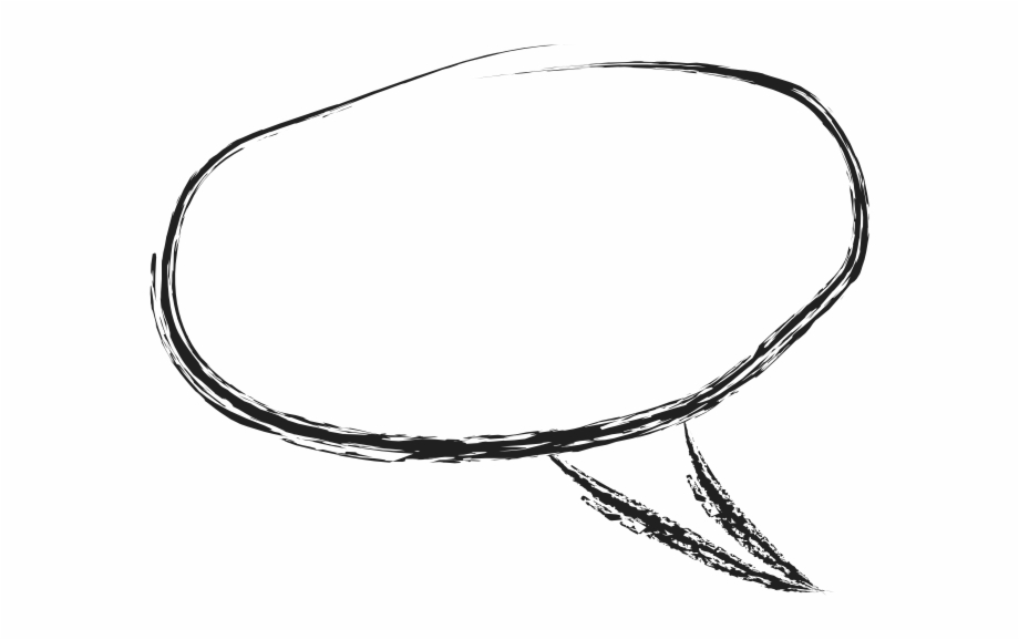 Grungy Charcoal Speech Bubble Circle.