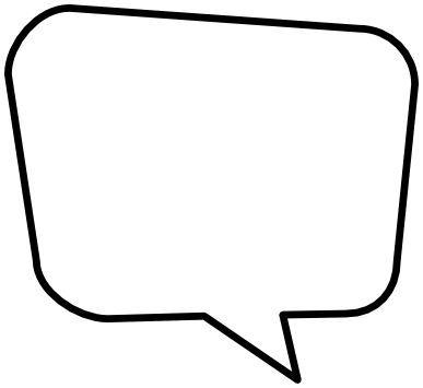 blank speech bubble.