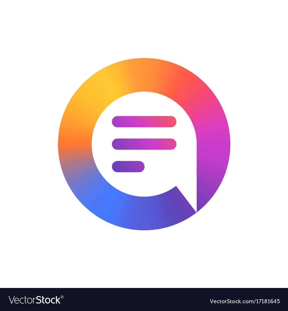 Speech bubble logo colorful logo design.