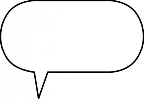 Cartoon speech bubble clipart.