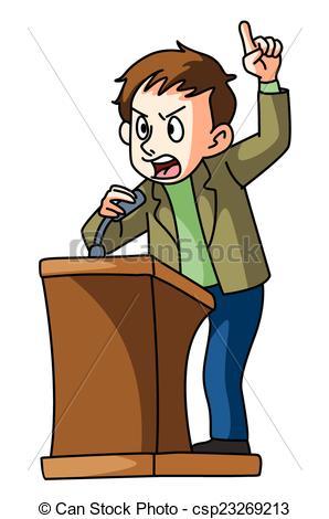 Vector Clip Art of podium speech csp23269213.