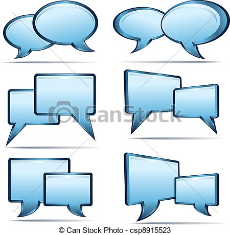 Vectors of Speech bubbles.
