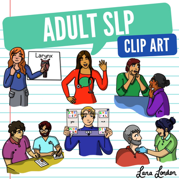 Adult Speech Language Pathologist Clip Art.