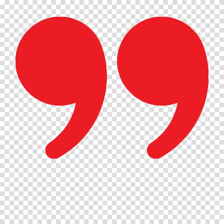Red double quotation mark illustration, Quotation marks in.