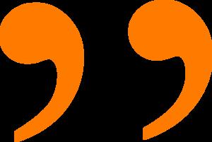 Orange Closing Quotation Mark Clip Art at Clker.com.