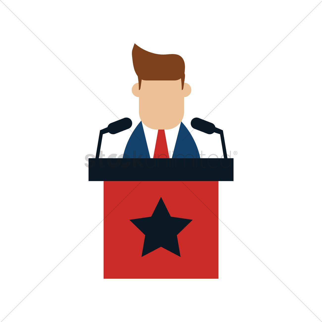 Man Giving Speech Clipart.