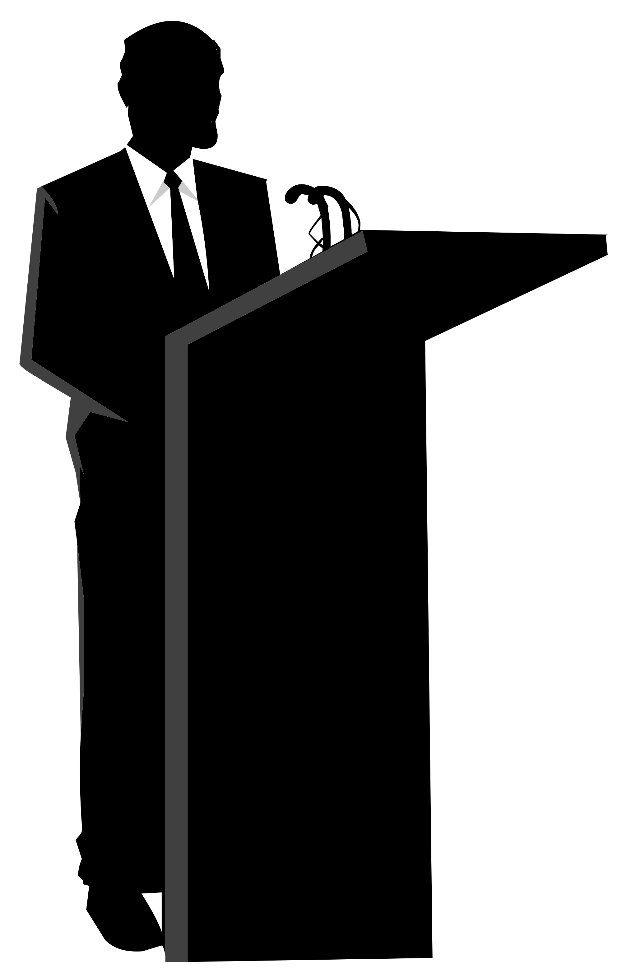 Silhouette speech podium clipart.