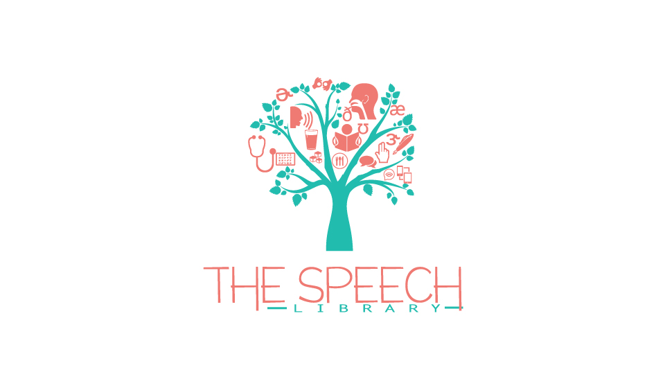 Speech therapy Logos.