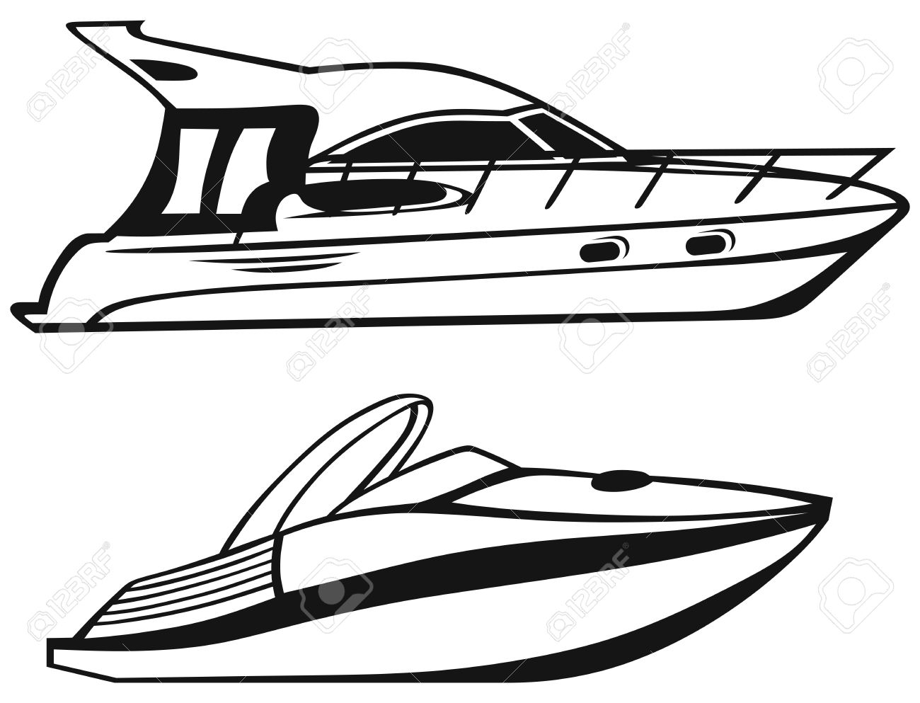 Speed boat clipart black and white 4 » Clipart Station.