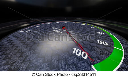 Clipart of Network speed indicator.