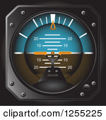 Clipart of a Casares Air Speed Indicator Gauge.