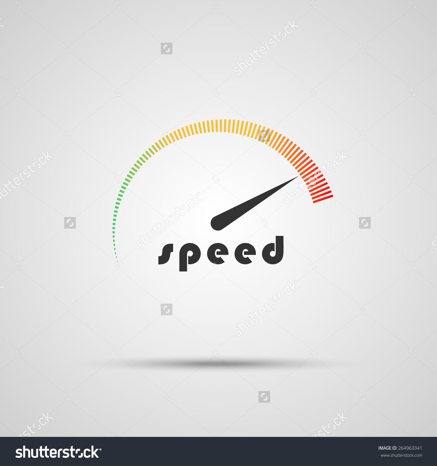 Speedometer Icon Logo Company Internet Speed Stock Vector.