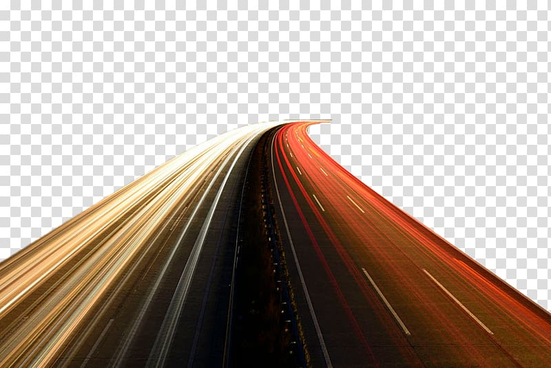 Highway speed light transparent background PNG clipart.