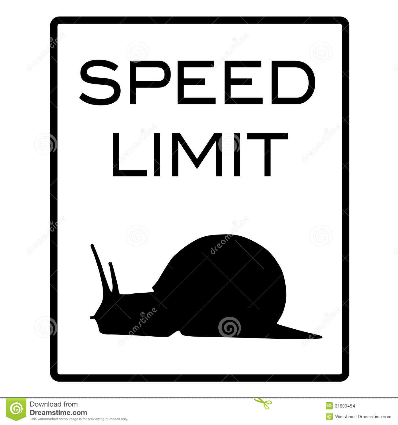 Speed Limit Sign Clipart.