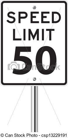 EPS Vectors of Speed limit sign on white csp13229191.