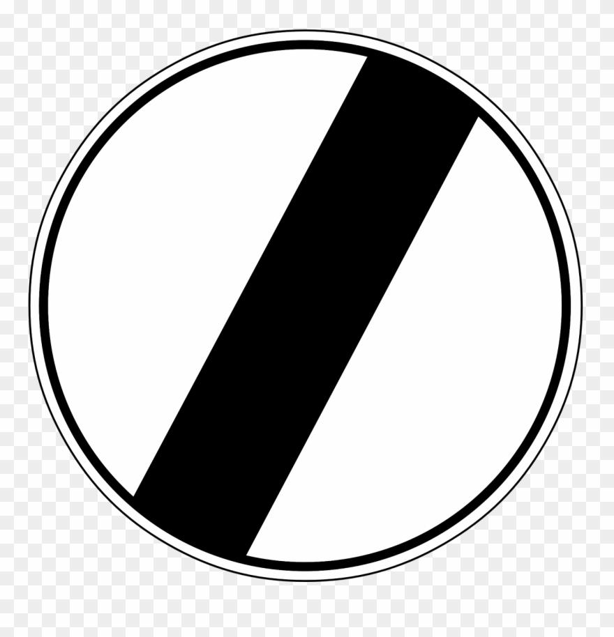 End Of Speed Limit, Arrow, Traffic.