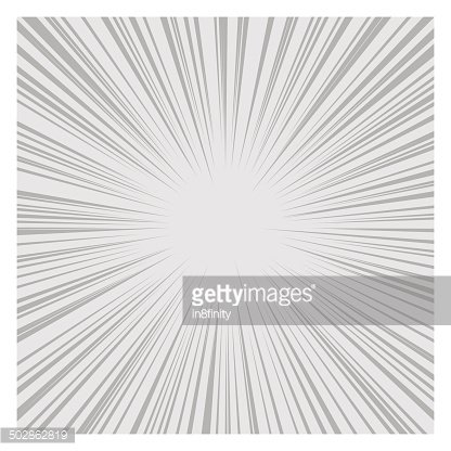 Comics Radial Speed Lines graphic effects. Vector Clipart.