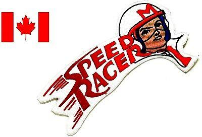 SPEED RACER WORD Logo Racing Car Mifune Racer Embroidered.