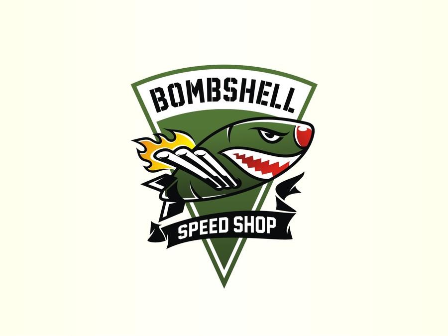 Hot Rod Shop / Speed Shop vintage bomb logo.