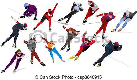 Speed skating Illustrations and Clipart. 3,398 Speed skating.