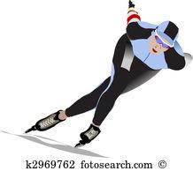 Speed skating Clip Art Vector Graphics. 2,622 speed skating EPS.