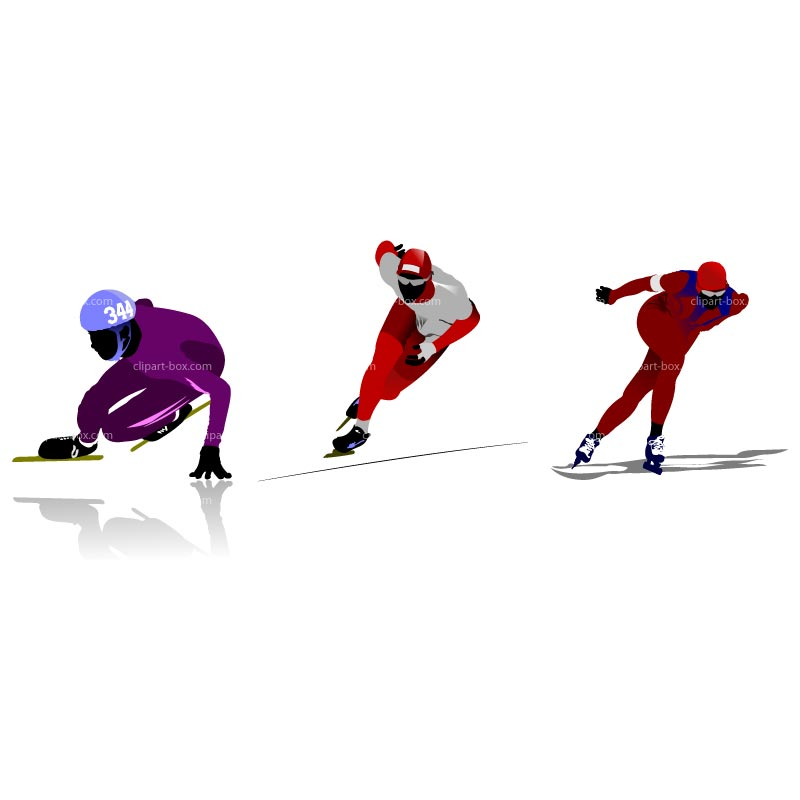 CLIPART SPEED SKATING.