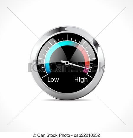 Clipart Vector of Speedometer.