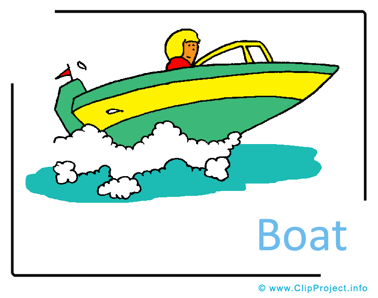 Speedboat Clipart Picture free.