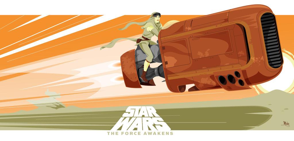 Star Wars TFA Rey's speeder by MikeMahle on DeviantArt.