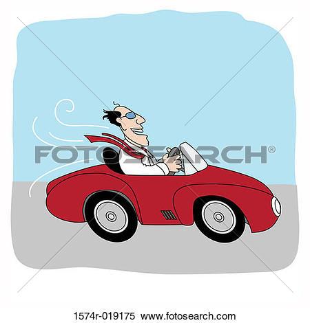 Stock Illustration of The Happy Speeder Linda Braucht (20th C.