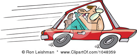 Clipart of car speeding.