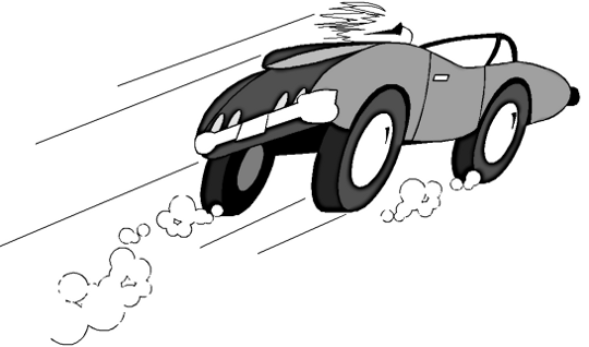 Speeding Car Clip Art.