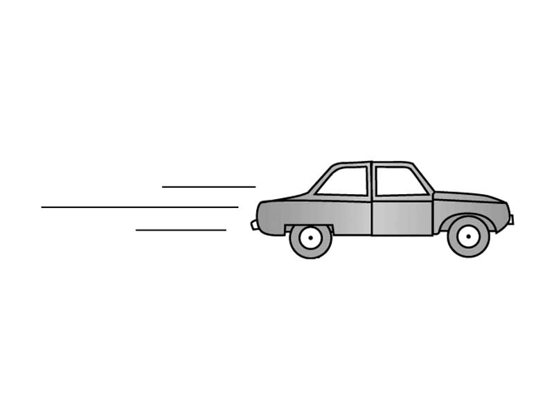 Speeding Car Clipart.
