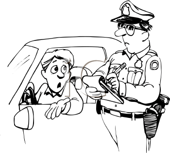 Speeding ticket clip art.