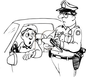Speeding ticket clip art.
