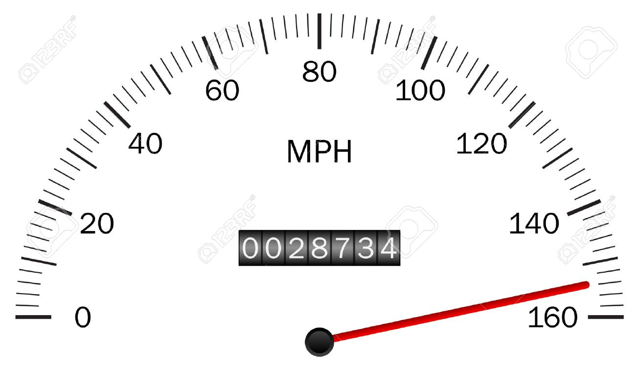 Car speedometer clipart.