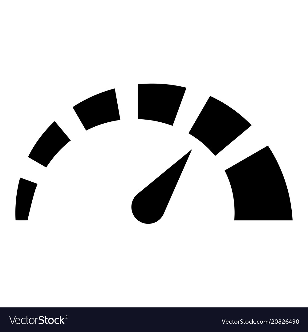 Speedometer icon black color flat style simple.