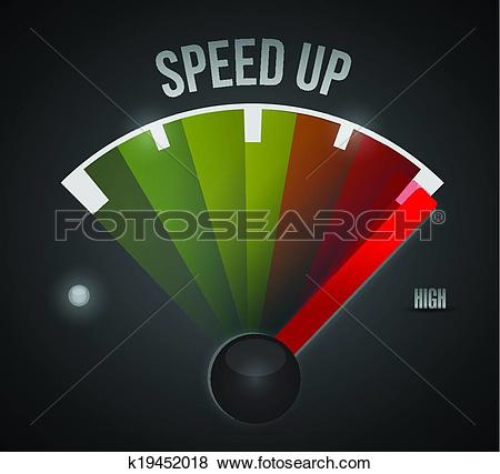 Clip Art of speed up marker. illustration design k19452018.