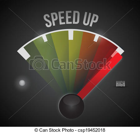Vector Clip Art of speed up marker. illustration design over a.