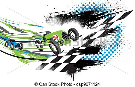 race car finish line clipart #15