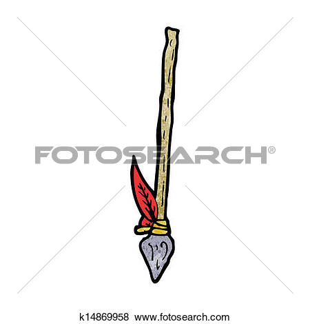 Clip Art of cartoon spear k15568286.