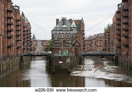 Stock Image of Speicherstadt hamburg ie226.